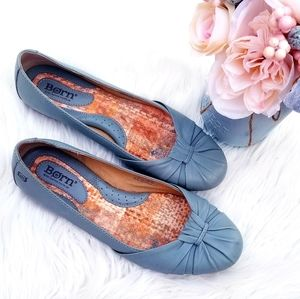 Born dusty blue leather flats size 9